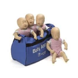 Lot de quatre Baby Anne Mannequins avec sac souple