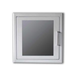 armoire-metal-blanche-defibrillateur