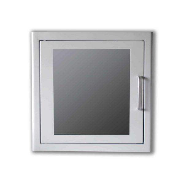 Armoire murale métallique blanche pour défibrillateur