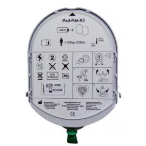 Défibrillateur Heartsine Pile et électrodes adulte