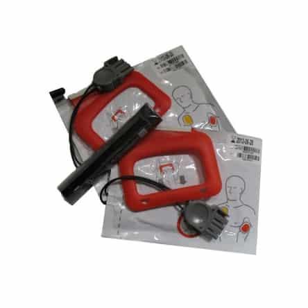 Kit Chargepak défibrillateur Physio Control 1 pile et 2 paires d'électrodes adulte