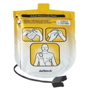 Electrodes adulte défibrillateur Defibtech LifeLine