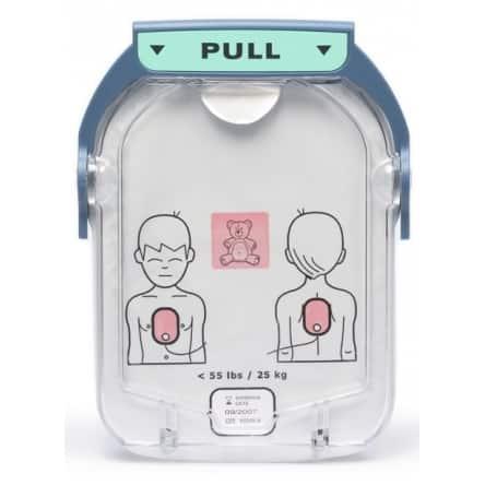 Electrodes pédiatriques pour défibrillateur Philips Heartstart HS1