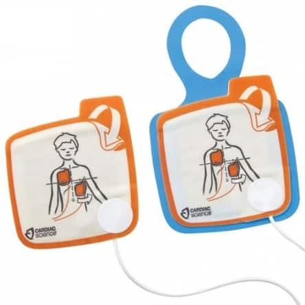 Electrodes pédiatriques pour défibrillateur Cardiac Science Powerheart G5