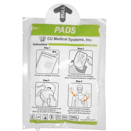 Electrodes adulte défibrillateur CU Medical IPAD SP1