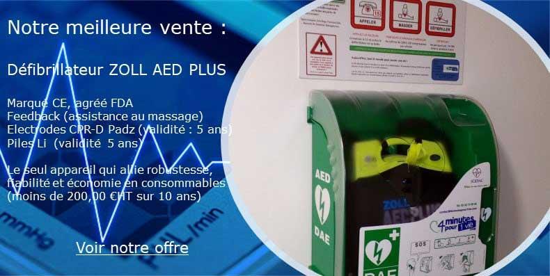 défibrillateur zoll AED Plus 4minutespour1vie