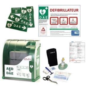 Pack défibrillateur avec armoire Aivia 200 et accessoires