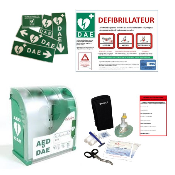 Défibrillateur : pack avec armoire Aivia 100