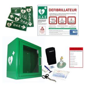 Défibrillateur : pack avec armoire métal