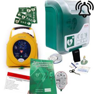 Pack défibrillateur Heartsine 350P avec Aivia In avec alarme