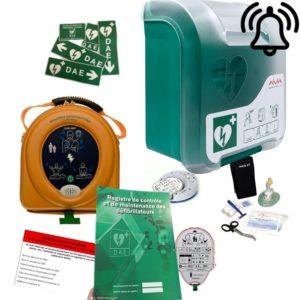 Pack défibrillateur Heartsine 360P avec Aivia In avec alarme