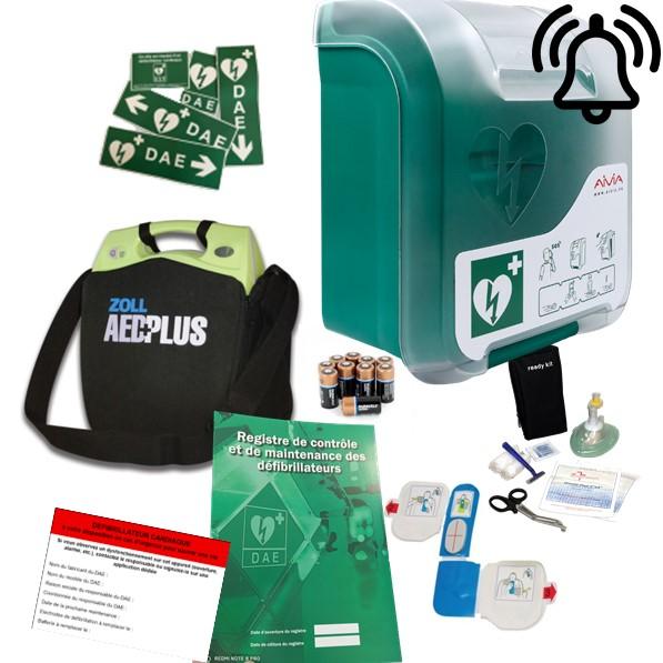Pack défibrillateur Zoll AED Plus avec Aivia In avec alarme