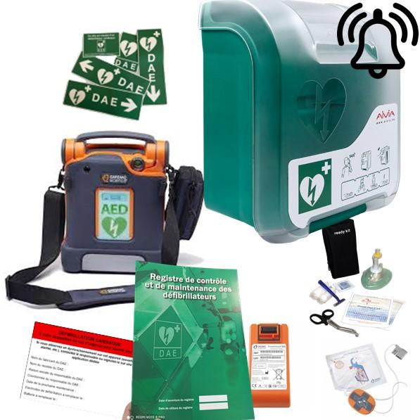 Pack défibrillateur Cardiac Science G5 avec Aivia In avec alarme