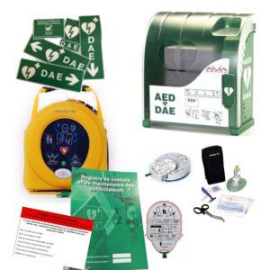 Pack défibrillateur Heartsine 350P avec Aivia 100