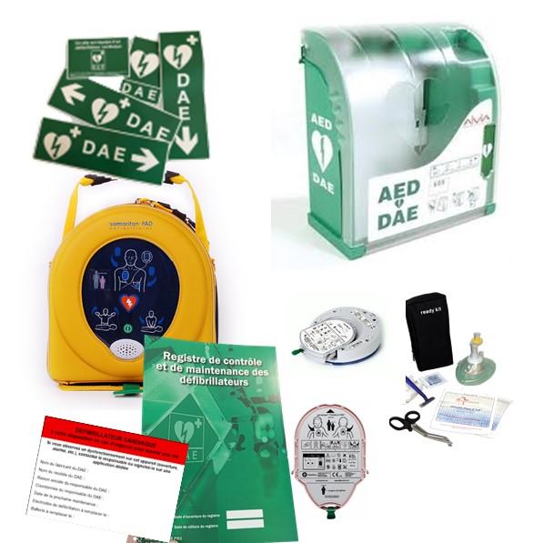 Pack défibrillateur Heartsine 350P avec Aivia 200