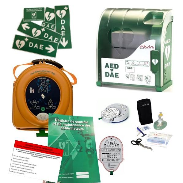 Pack défibrillateur Heartsine 360P avec Aivia 100