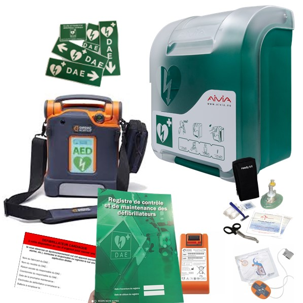 Pack défibrillateur Cardiac Science G5 avec Aivia In