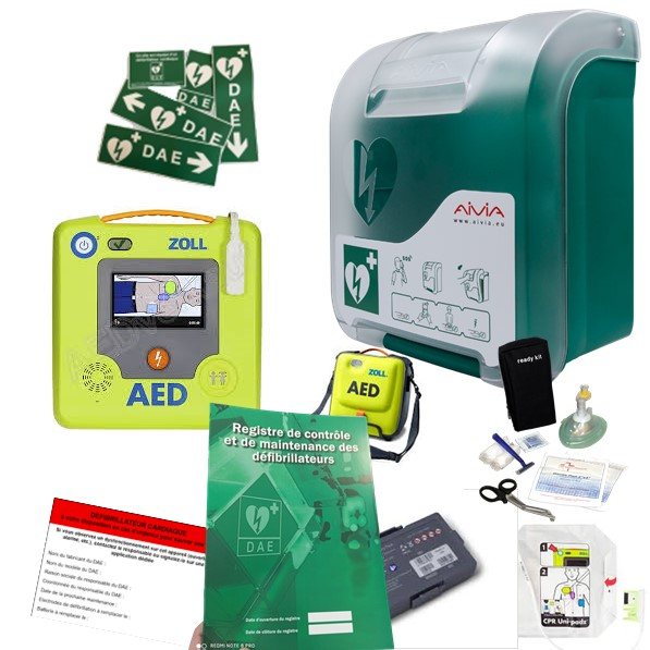 Pack défibrillateur Zoll AED 3 avec armoire In