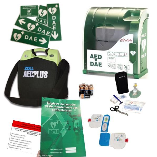 Pack défibrillateur Zoll AED Plus avec Aivia 100