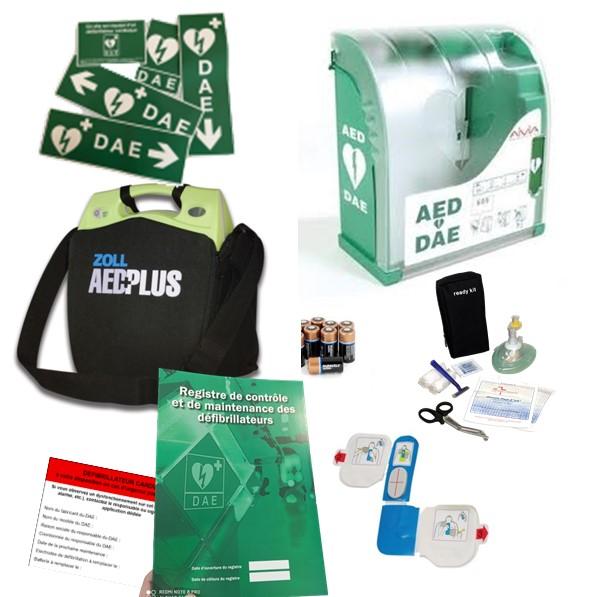 Pack défibrillateur Zoll AED Plus avec Aivia 200